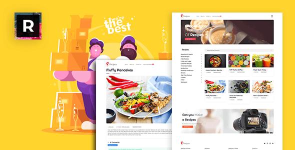 recipex -  food and recipe blogs script Template