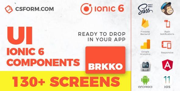 Brkko | Ionic 6 / Angular 9 UI Theme / Template App | Multipurpose Starter App
