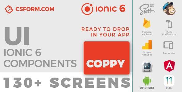Coppy | Ionic 6 / Angular 9 UI Theme / Template App | Multipurpose Starter App
