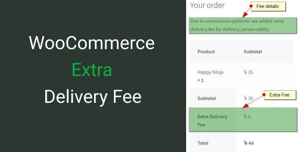 WooCommerce Extra Delivery Fee