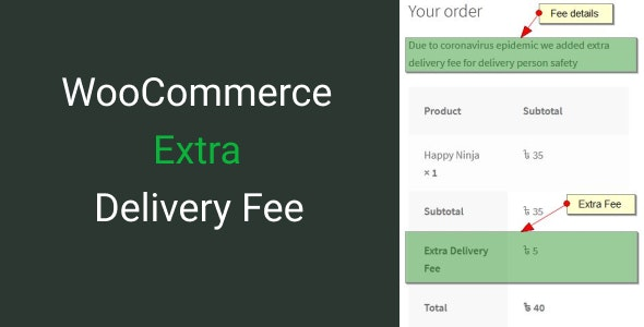 WooCommerce Extra Delivery Fee - CodeCanyon Item for Sale