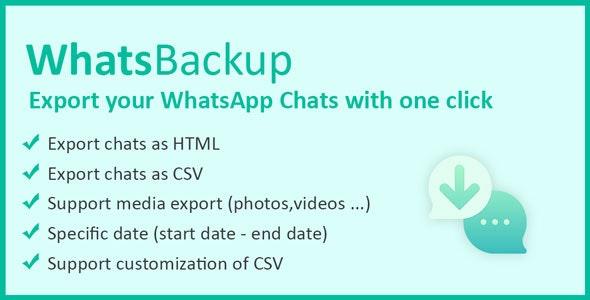 WhatsBackup - Backup WhatsApp Chats - CodeCanyon Item for Sale