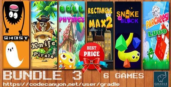 Bundle #3 - 6 Games (Admob + GDPR + Android Studio)