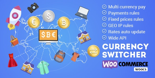 WOOCS - WooCommerce Currency Switcher - WooCommerce Multi Currency and WooCommerce Multi Pay - CodeCanyon Item for Sale