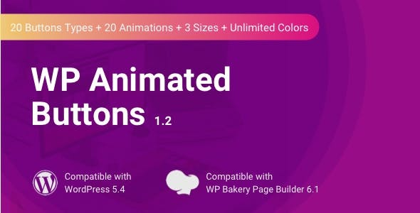 WP Animated Buttons | WPBakery Button Addon