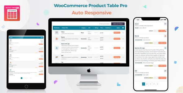 Woo Product Table Pro - WooCommerce Product Table view solution - CodeCanyon Item for Sale