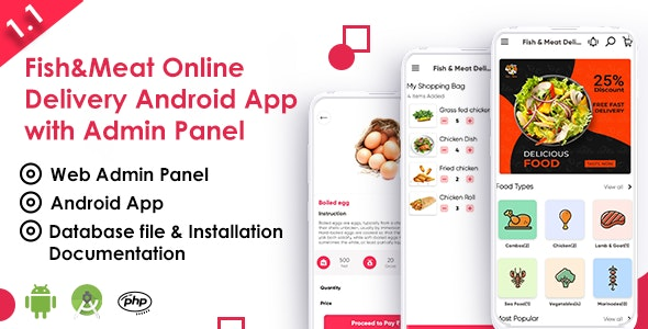 Fish And Meat Online Delivery Android App with Interactive Admin Panel - CodeCanyon Item for Sale