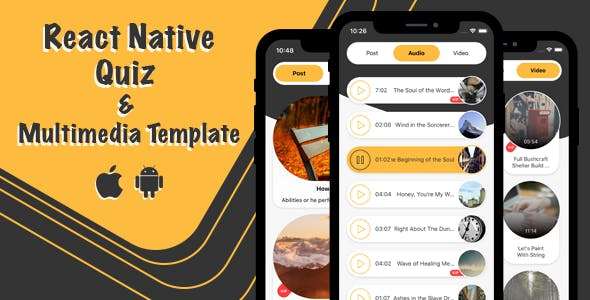 React Native Quiz And Multimedia Template