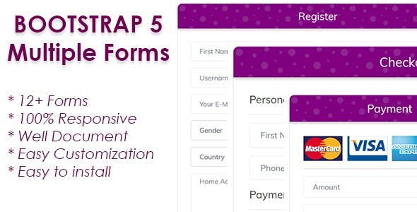 Responsive Bootstrap 5 Forms
