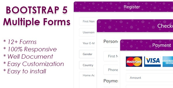 Responsive Bootstrap 5 Forms - CodeCanyon Item for Sale