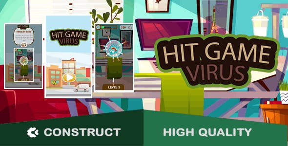 Virus Hit Game - HTML5 Game (capx)