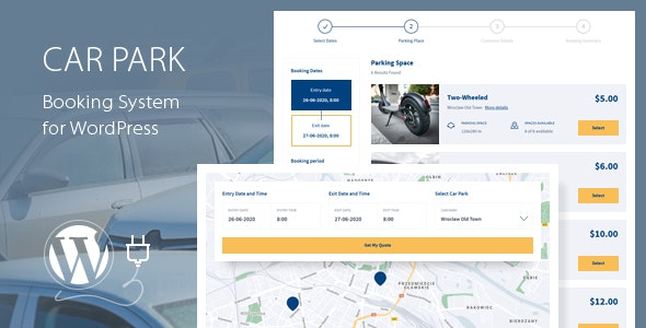 Car Park Booking System for WordPress - CodeCanyon Item for Sale