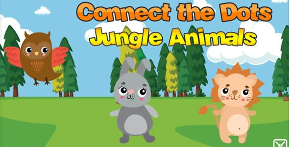 Connect The Dots Jungle Animals - CodeCanyon Item for Sale