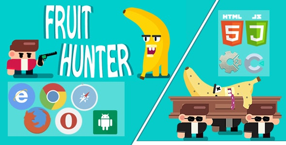 FRUIT HUNTER - PC, Mobile Game, Desktop Game, Construct 2 and construct 3. Capx and C3p. - CodeCanyon Item for Sale