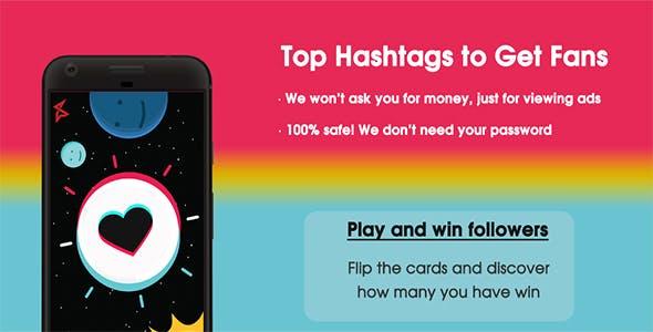 TikBooster - Fans & Followers & Likes & Hearts Tlk - Android App + Admob Integration