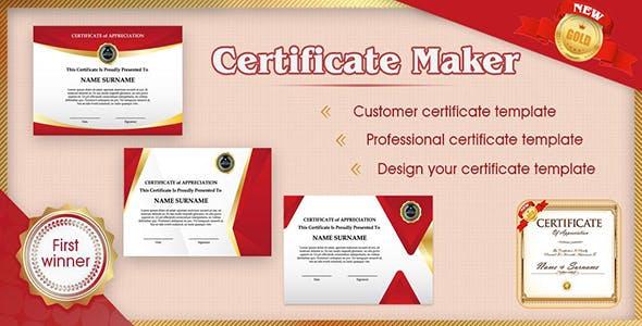 Certificate Maker - Android App + Admob + Facebook Integration