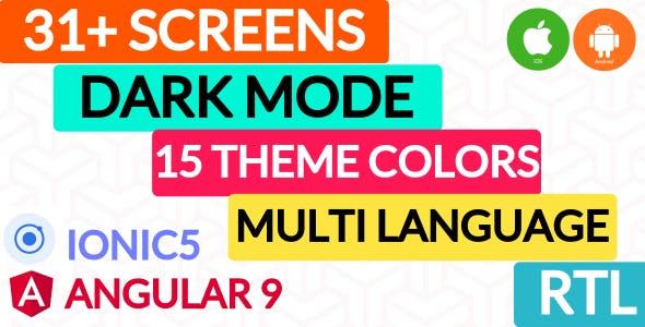 IonPose - Multipurpose Ionic5 App (RTL + Dark Mode + 15 Theme Colors + Multi-Language Support)
