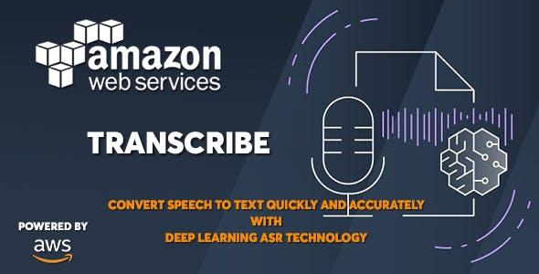 AWS Amazon Transcribe - Speech to Text Converter