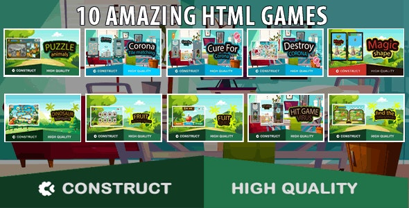 Bots Bundle 10 Games - HTML5 Game (capx) - CodeCanyon Item for Sale