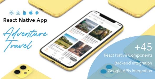 Adventure Travel - React Native App - CodeCanyon Item for Sale