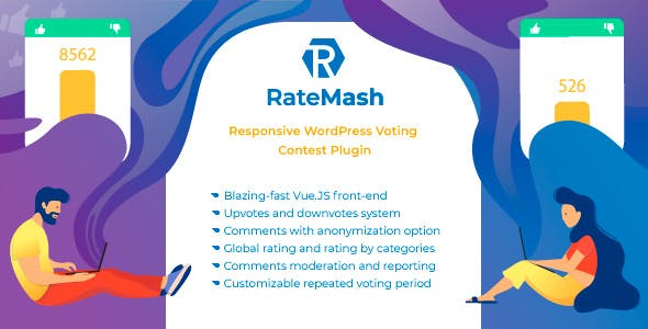 RateMash - Responsive WordPress Voting Contest Plugin