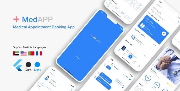 Flutter MedAPP: Medical Appointment Booking App UI