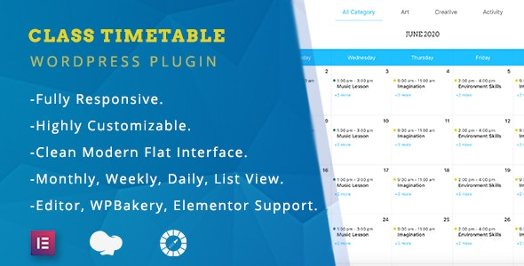 Class Timetable - Responsive Schedule For WordPress - CodeCanyon Item for Sale