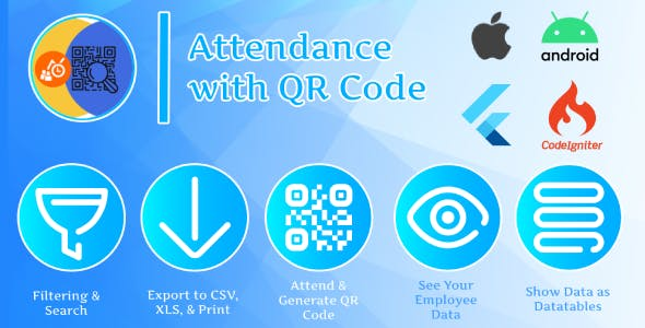 Attendance with QR code - Flutter (Android & IOS) + System Management