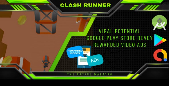Clash Runner – Android Studio – BuildBox – AdMob Ads Reward Video - CodeCanyon Item for Sale