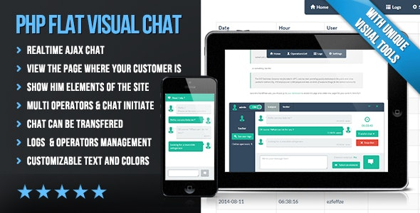 PHP Flat Visual Live Chat - CodeCanyon Item for Sale