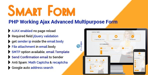 SmartForm - PHP Working Ajax Advanced Multipurpose Form - CodeCanyon Item for Sale