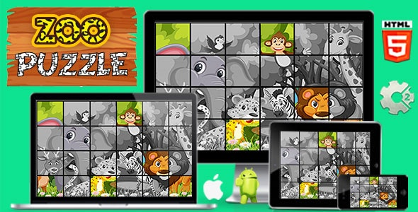 Zoo Puzzle - Game HTML5 and Mobile - CodeCanyon Item for Sale