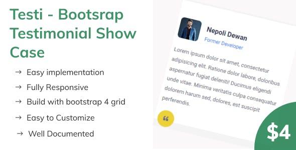 Testi - Bootsrap Testimonial Show Case