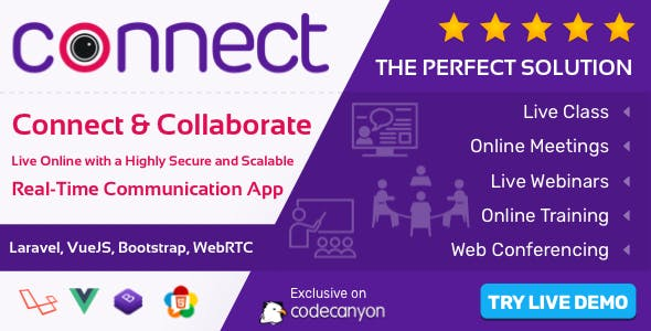 Connect - Live Class, Meeting, Webinar, Online Training & Web Conference