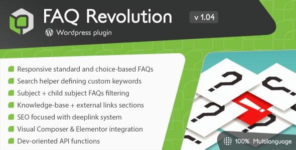 FAQ Revolution - WordPress Plugin - CodeCanyon Item for Sale