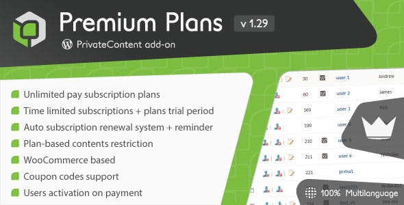 PrivateContent - Premium Plans add-on