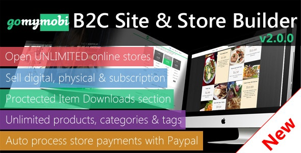 gomymobiBSB v2.0: B2C Site & Store Builder - Element Builder, Paypal, Stripe, RTL - CodeCanyon Item for Sale