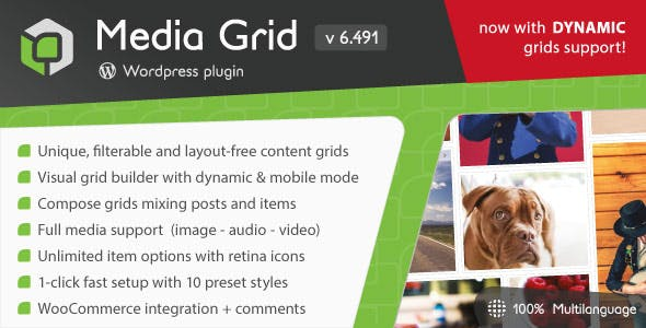 Media Grid - Wordpress Responsive Portfolio