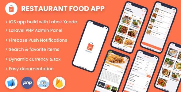 Single restaurant food ordering app - iOS App with Admin Panel