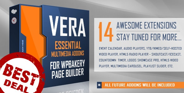 Vera - Essential Multimedia Addons for Visual Composer or WPBakery Page Builder - CodeCanyon Item for Sale