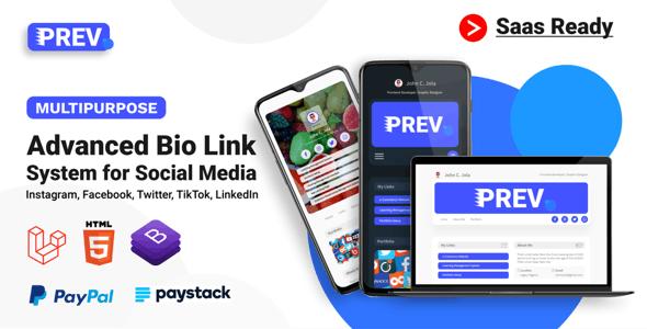 Prev - Multi User Extended Social Profile For Instagram, Twitter, Facebook, TikTok (SaaS)