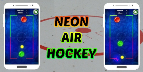 Neon Air Hockey - Unity Project - CodeCanyon Item for Sale