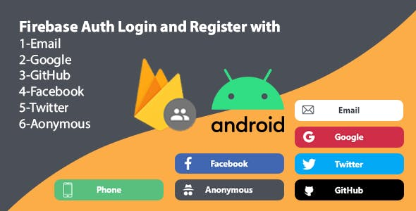 Firebase Auth Login and Register with Email,Google,GitHub,Facebook,Twitter and Anonymous