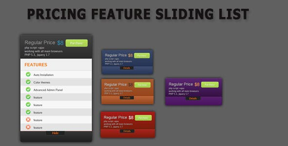 Pricing Sliding blocks