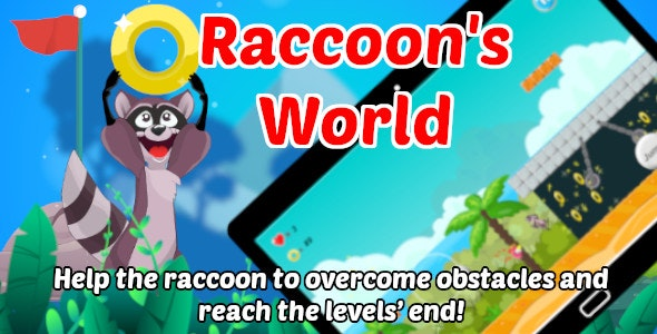 Raccoon's World | Platform Game | Unity Complete Project for Android and iOS - CodeCanyon Item for Sale