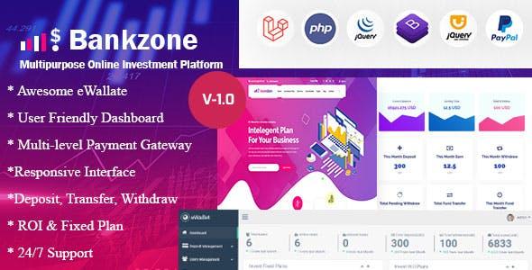 Bankzone - Wallet & Banking Online Investment Platform