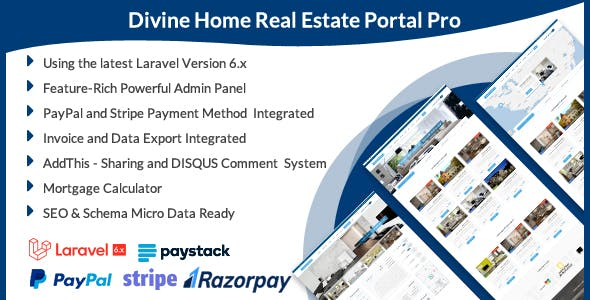 Divine Home - Real Estate Portal Pro