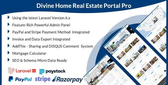 Divine Home - Real Estate Portal Pro