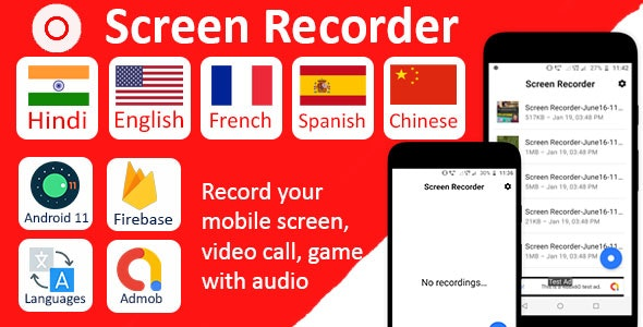 Screen Recorder Pro with Audio - CodeCanyon Item for Sale