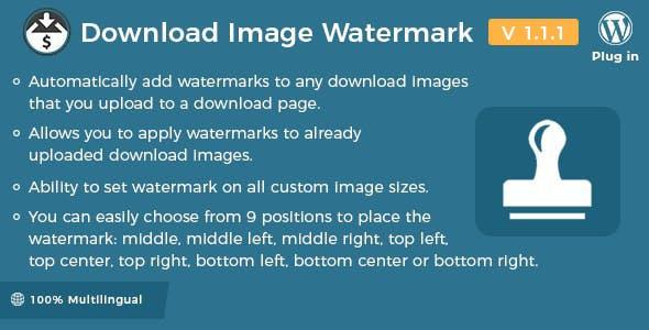 Easy Digital Downloads - Download Image Watermark by wpweb